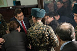Куандык Бишимбаев после оглашения приговора, архивное фото