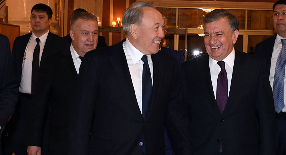 Нурсултан Назарбаев и Шавкат Мирзиёев