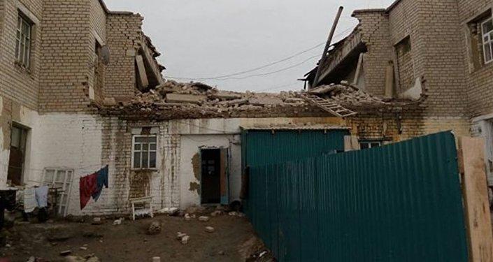 Обрушение жилого дома в Кызылорде
