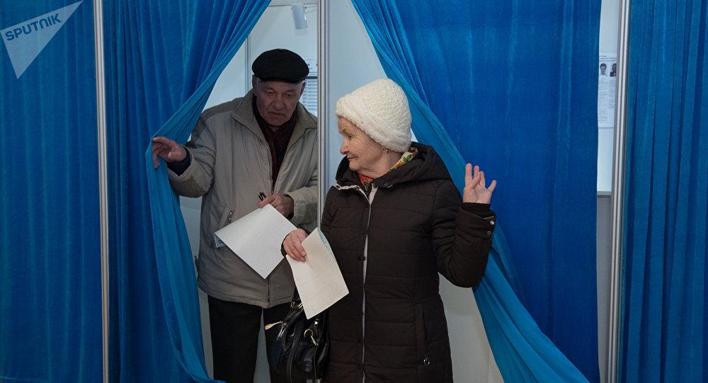 Избирательный участок в Астане