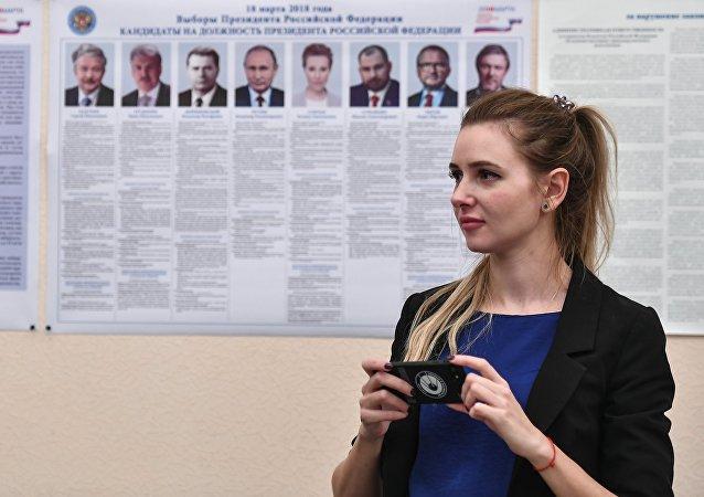 Избирательный участок в Байконурском электрорадиотехническом техникуме им. М.И. Неделина в Байконуре