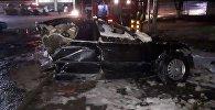 В страшной аварии в Шымкенте погиб водитель