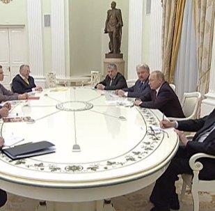 СПУТНИК_LIVE: Встреча Владимира Путина с доверенными лицами и экс-кандидатами на пост президента РФ