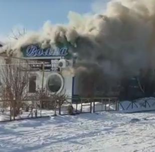 Пожар в пивном баре Волна в Костанае