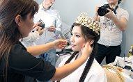 Подготовка к конкурсу Мисс Казахстан