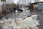 Талая вода в поселке в ВКО
