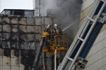 Торговый центр Зимняя вишня в Кемерово во время пожара