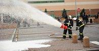 Пожарные учения в торгово-развлекательном центре Mega