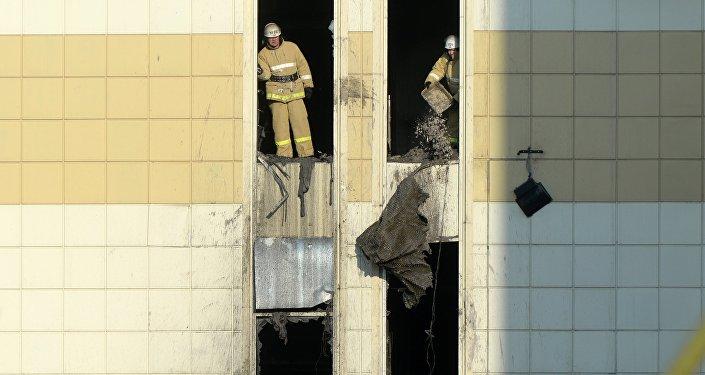 Последствия пожара в ТЦ «Зимняя вишня»