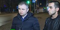 Администратор и охранник обувного магазина в кемеровском ТЦ Зимняя вишня Фарзон Салилов и Махмуд Художаев