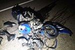 Водитель мотоцикла и его пассажирка госпитализированы после ДТП