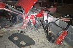 Два человека попали в больницу после столкновения Mazda и BMW в Алматы