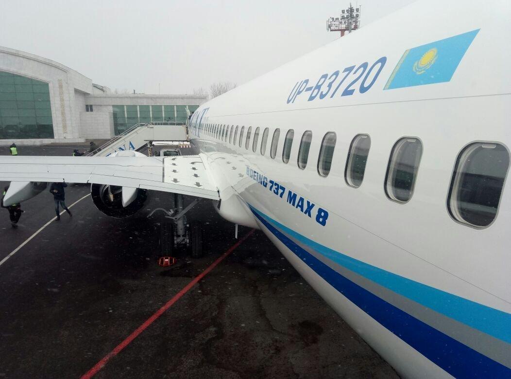 Первый заместитель муфтия Наурызбай благословил новый Boeing-737 MAX 8 авиакомпании SCAT