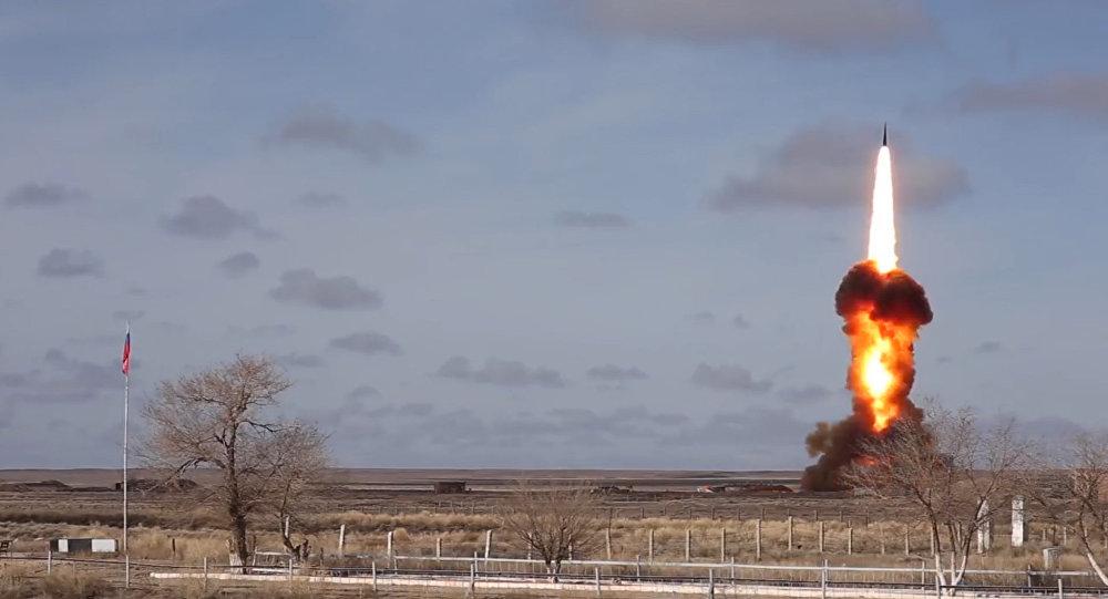 Испытание в Казахстане ракеты российской системы ПРО, архивное фото