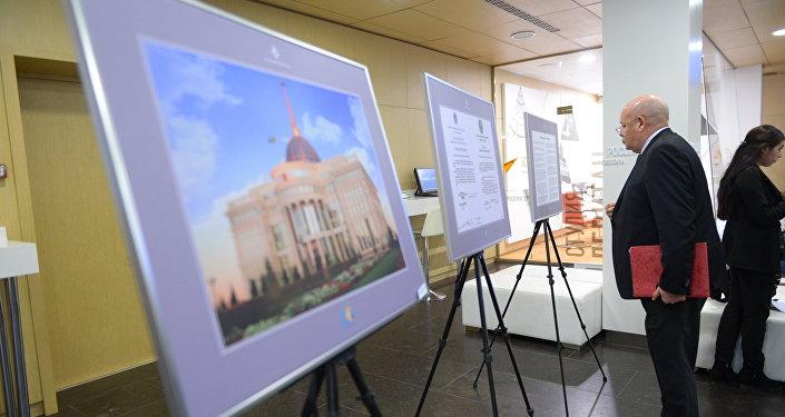 Международная фотовыставка под названием Астана – жемчужина Великой степи, посвященная 20-летию столицы Казахстана