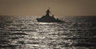 Корабль в Каспийском море. Архивное фото