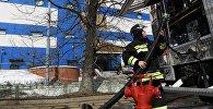 Пожар в торговом центре Персей в Москве