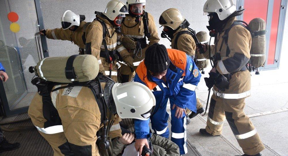 Пожар произошел вкрупном ТРЦ вКостанае