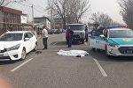Тойота сбила мужчину на пересечении улиц Утеген батыра и проспекта Райымбека