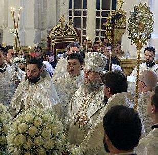 Православные отмечают Пасху в Свято-Вознесенском кафедральном соборе