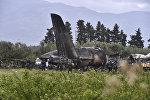 Место крушения военного самолета Ил-76 в Алжире