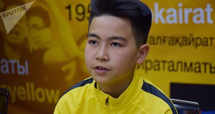 12-летний воспитанник алматинского клуба Алан Адахаев