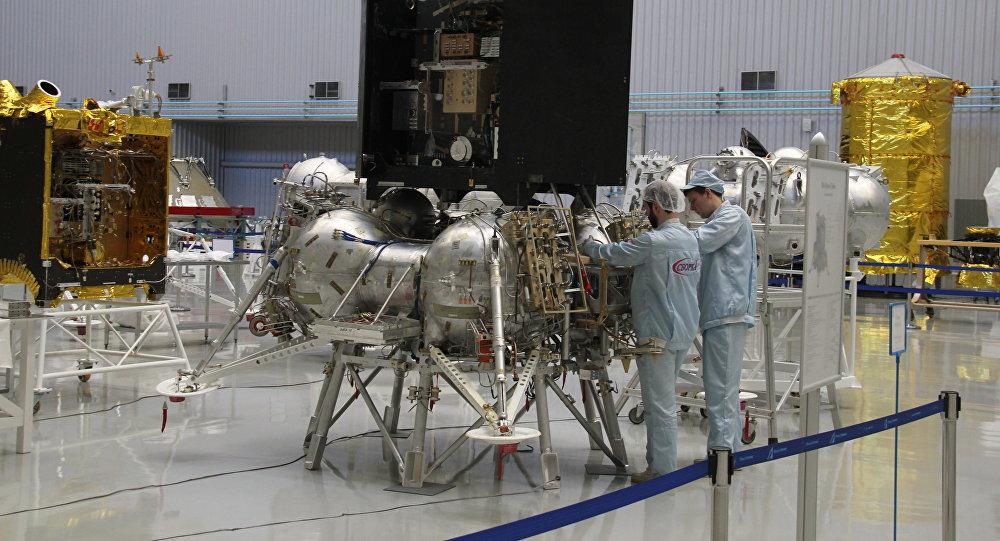 Макет космического аппарата Луна-25