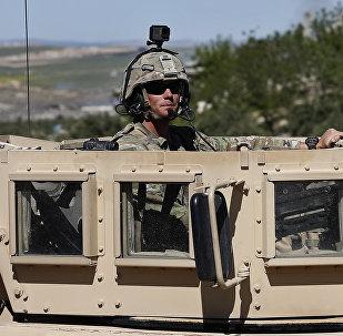 Американский военный в Сирии