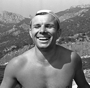 Юрий Гагарин во время послеполетного отдыха в Крыму