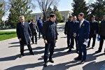 Аким Алматы Бауыржан Байбек побывал на территории Атакента