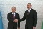 Нурсултан Назарбаева и Ильхам Алиев