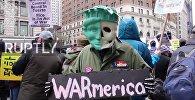 Нью-Йорктегі АҚШ-тың Сирияға жасаған зымыран соққыларына қарсы шеру
