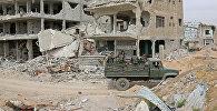 Разрушенные дома в Восточной Гуте, Сирия