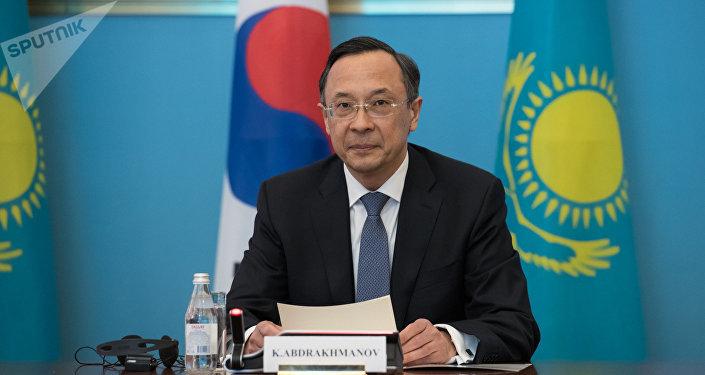 Министр иностранных дел Казахстана Кайрат Абдрахманов