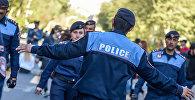 Полиция Армении на улицах Еревана