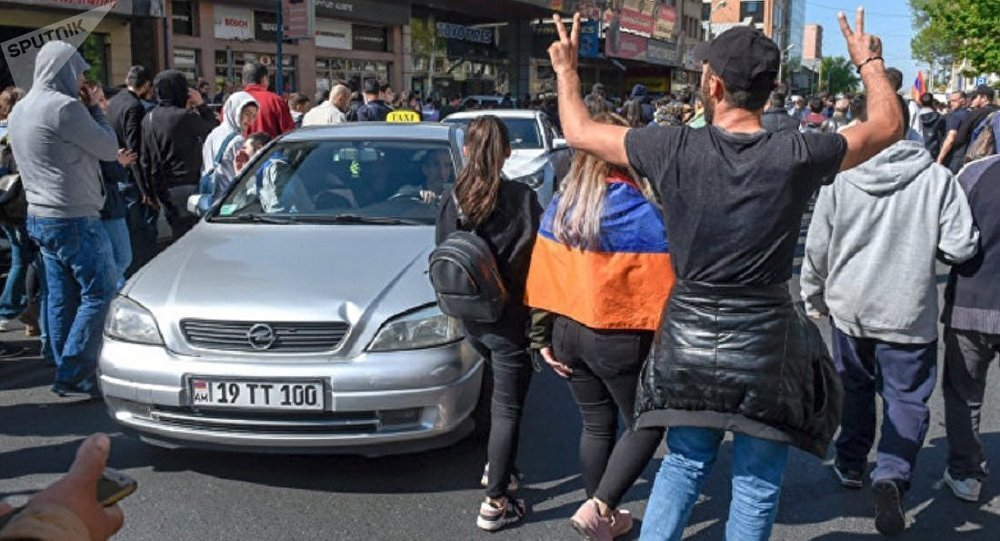 Акция протеста в Ереване