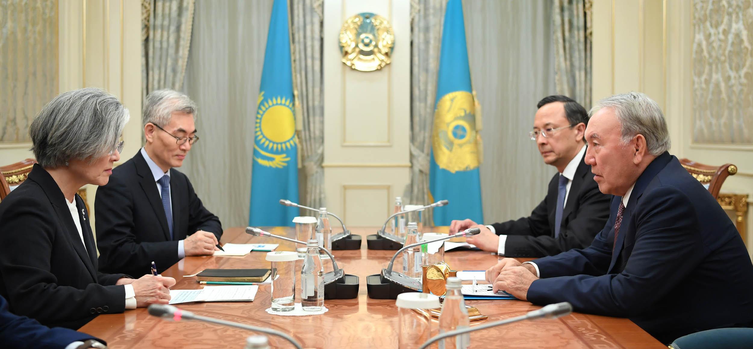 Встреча с министром иностранных дел Республики Корея Кан Ген Хва