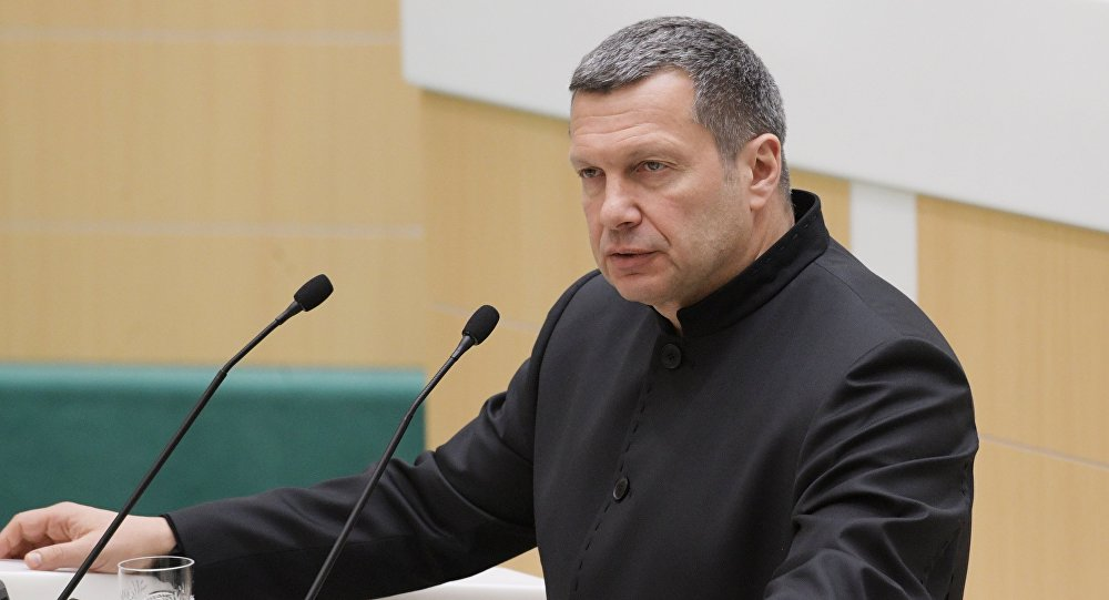 Журналист, теле- и радиоведущий Владимир Соловьев, архивное фото