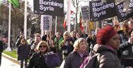 В Великобритании и США прошли протесты против ударов по Сирии