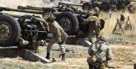 Воинские подразделения на полигоне в Отаре