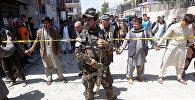 Афганские силовые структуры на месте теракта в Кабуле