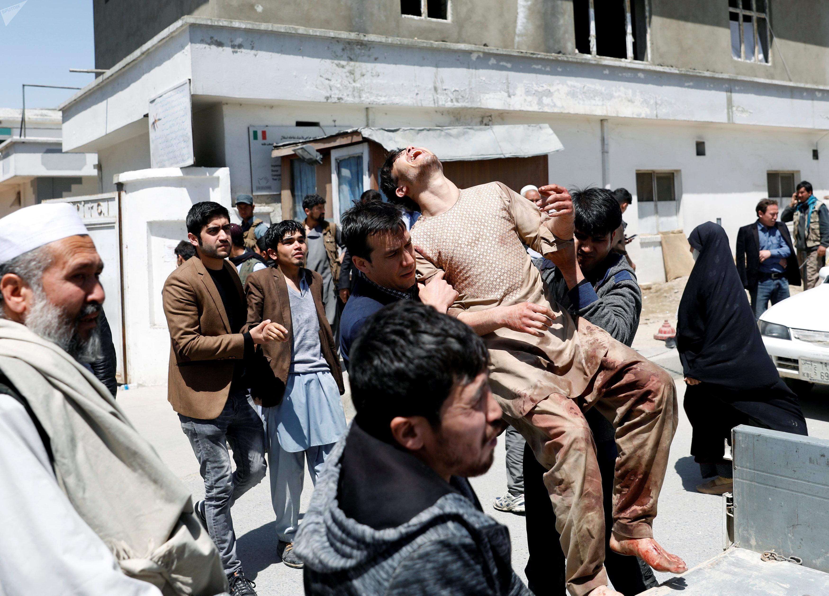 Пострадавшие во время теракта в Кабуле