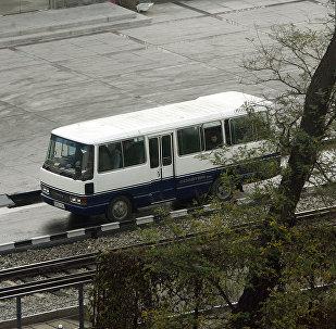 Автобус в Северной Корее, архивное фото