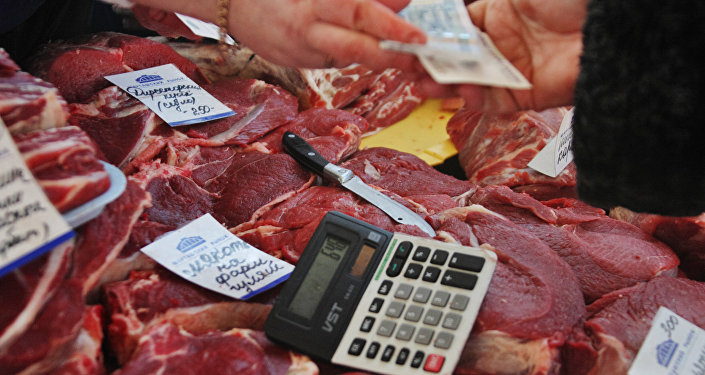 Продажа мяса, архивное фото