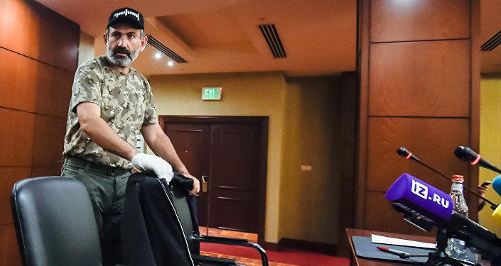 Лидер протестного движения Никол Пашинян