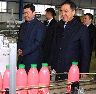 Бакытжан Сагинтаев ознакомился с работой технологических линий по производству продуктов питания