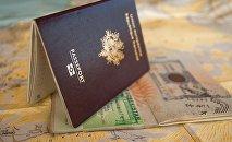 Виза, паспорт, иллюстративное фото