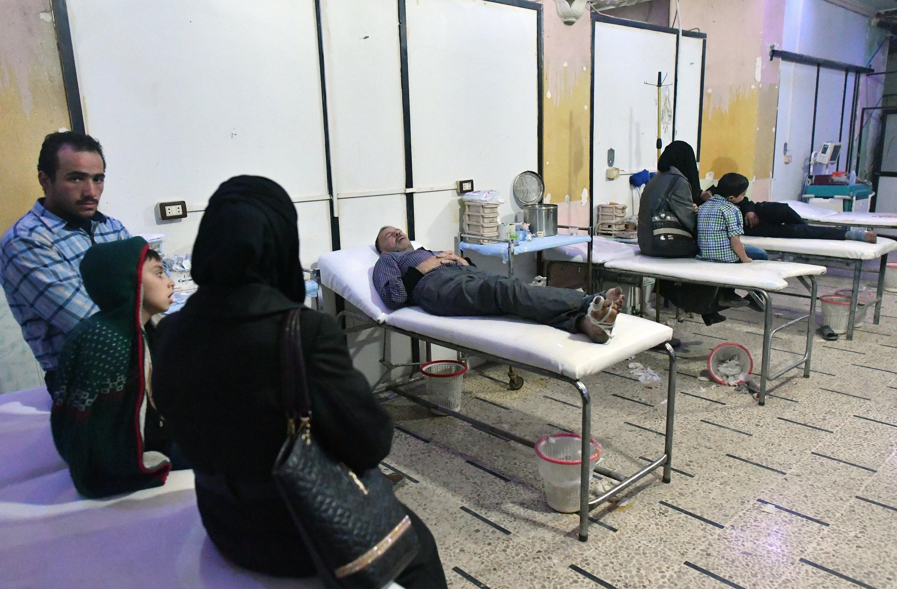 Городская подземная больница в сирийской Думе