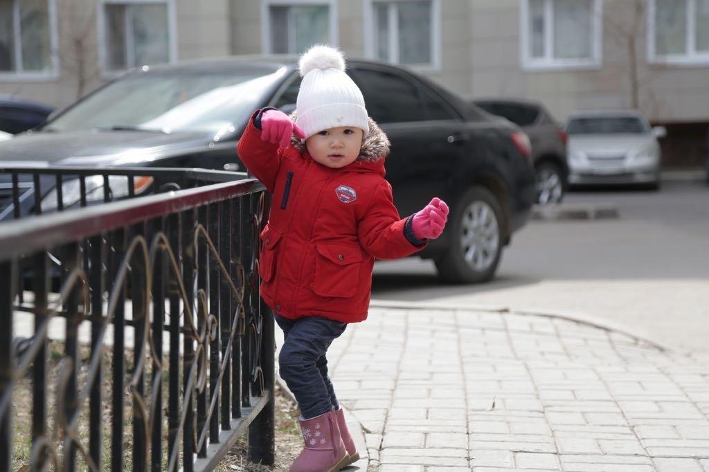 Саида на прогулке