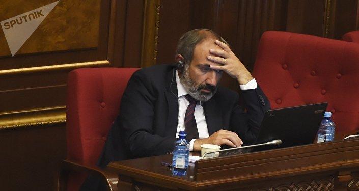 Кандидат в премьер-министры, лидер партии Елк (Исход) Никол Пашинян